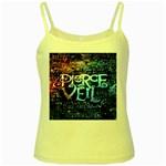 Pierce The Veil Quote Galaxy Nebula Yellow Spaghetti Tank