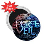 Pierce The Veil Quote Galaxy Nebula 2.25  Magnets (100 pack)