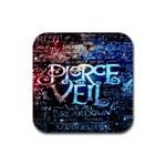 Pierce The Veil Quote Galaxy Nebula Rubber Coaster (Square)