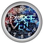 Pierce The Veil Quote Galaxy Nebula Wall Clocks (Silver)
