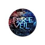 Pierce The Veil Quote Galaxy Nebula Rubber Coaster (Round)