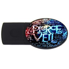 Pierce The Veil Quote Galaxy Nebula Usb Flash Drive Oval (2 Gb)  by Onesevenart