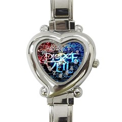 Pierce The Veil Quote Galaxy Nebula Heart Italian Charm Watch by Onesevenart