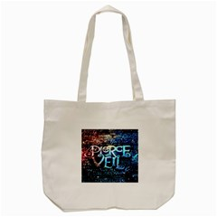 Pierce The Veil Quote Galaxy Nebula Tote Bag (cream) by Onesevenart