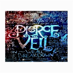 Pierce The Veil Quote Galaxy Nebula Small Glasses Cloth by Onesevenart