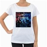 Pierce The Veil Quote Galaxy Nebula Women s Loose-Fit T-Shirt (White)