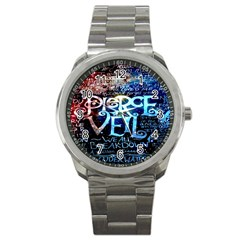 Pierce The Veil Quote Galaxy Nebula Sport Metal Watch by Onesevenart