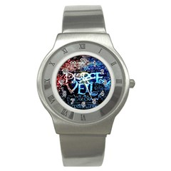 Pierce The Veil Quote Galaxy Nebula Stainless Steel Watch by Onesevenart
