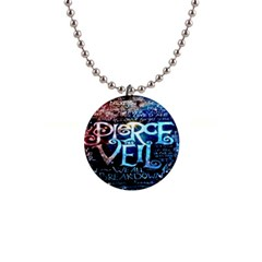 Pierce The Veil Quote Galaxy Nebula Button Necklaces by Onesevenart