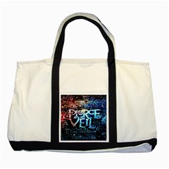 Pierce The Veil Quote Galaxy Nebula Two Tone Tote Bag by Onesevenart