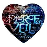 Pierce The Veil Quote Galaxy Nebula Heart Ornament (2 Sides)