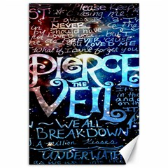 Pierce The Veil Quote Galaxy Nebula Canvas 12  X 18   by Onesevenart