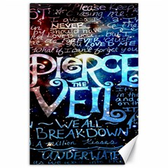 Pierce The Veil Quote Galaxy Nebula Canvas 24  X 36  by Onesevenart