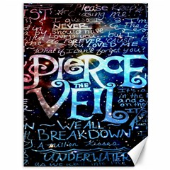 Pierce The Veil Quote Galaxy Nebula Canvas 36  X 48   by Onesevenart
