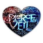 Pierce The Veil Quote Galaxy Nebula Heart Mousepads