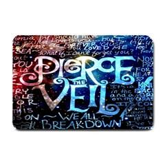 Pierce The Veil Quote Galaxy Nebula Small Doormat  by Onesevenart