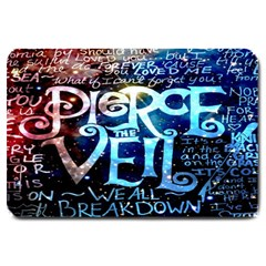 Pierce The Veil Quote Galaxy Nebula Large Doormat  by Onesevenart