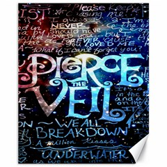 Pierce The Veil Quote Galaxy Nebula Canvas 11  X 14   by Onesevenart