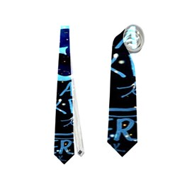 Pierce The Veil Quote Galaxy Nebula Neckties (one Side)  by Onesevenart