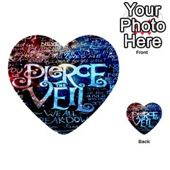Pierce The Veil Quote Galaxy Nebula Multi Purpose Cards (heart)  by Onesevenart