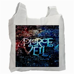 Pierce The Veil Quote Galaxy Nebula Recycle Bag (one Side) by Onesevenart
