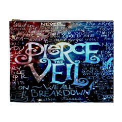 Pierce The Veil Quote Galaxy Nebula Cosmetic Bag (xl) by Onesevenart