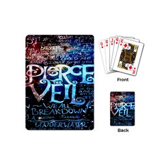 Pierce The Veil Quote Galaxy Nebula Playing Cards (mini)  by Onesevenart