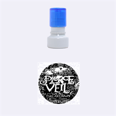 Pierce The Veil Quote Galaxy Nebula Rubber Round Stamps (small) by Onesevenart