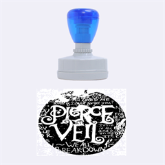 Pierce The Veil Quote Galaxy Nebula Rubber Oval Stamps by Onesevenart