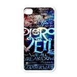 Pierce The Veil Quote Galaxy Nebula Apple iPhone 4 Case (White)