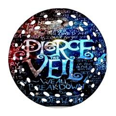 Pierce The Veil Quote Galaxy Nebula Round Filigree Ornament (2side) by Onesevenart