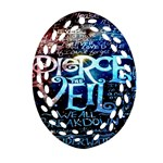 Pierce The Veil Quote Galaxy Nebula Oval Filigree Ornament (2-Side)