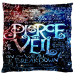 Pierce The Veil Quote Galaxy Nebula Large Cushion Case (Two Sides)