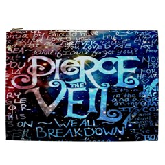 Pierce The Veil Quote Galaxy Nebula Cosmetic Bag (xxl)  by Onesevenart