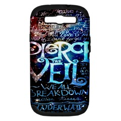 Pierce The Veil Quote Galaxy Nebula Samsung Galaxy S Iii Hardshell Case (pc+silicone) by Onesevenart