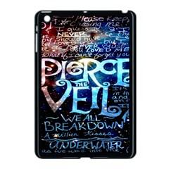 Pierce The Veil Quote Galaxy Nebula Apple Ipad Mini Case (black) by Onesevenart
