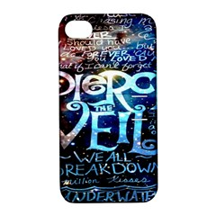 Pierce The Veil Quote Galaxy Nebula Apple Iphone 4/4s Hardshell Case With Stand by Onesevenart