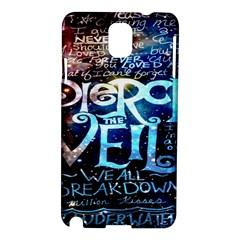 Pierce The Veil Quote Galaxy Nebula Samsung Galaxy Note 3 N9005 Hardshell Case by Onesevenart