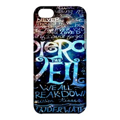 Pierce The Veil Quote Galaxy Nebula Apple Iphone 5c Hardshell Case by Onesevenart