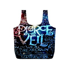 Pierce The Veil Quote Galaxy Nebula Full Print Recycle Bags (s)  by Onesevenart