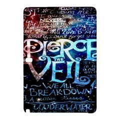 Pierce The Veil Quote Galaxy Nebula Samsung Galaxy Tab Pro 10 1 Hardshell Case by Onesevenart