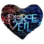 Pierce The Veil Quote Galaxy Nebula Large 19  Premium Flano Heart Shape Cushions