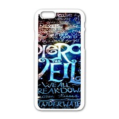 Pierce The Veil Quote Galaxy Nebula Apple Iphone 6/6s White Enamel Case by Onesevenart