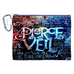Pierce The Veil Quote Galaxy Nebula Canvas Cosmetic Bag (xxl) by Onesevenart
