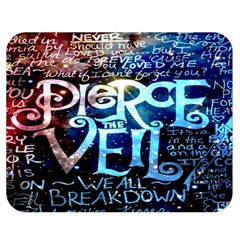 Pierce The Veil Quote Galaxy Nebula Double Sided Flano Blanket (medium)  by Onesevenart