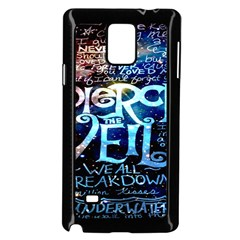Pierce The Veil Quote Galaxy Nebula Samsung Galaxy Note 4 Case (black) by Onesevenart