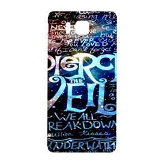 Pierce The Veil Quote Galaxy Nebula Samsung Galaxy Alpha Hardshell Back Case by Onesevenart