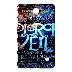 Pierce The Veil Quote Galaxy Nebula Samsung Galaxy Tab 4 (7 ) Hardshell Case  by Onesevenart