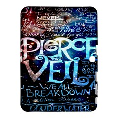 Pierce The Veil Quote Galaxy Nebula Samsung Galaxy Tab 4 (10 1 ) Hardshell Case  by Onesevenart