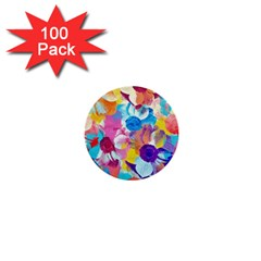 Anemones 1  Mini Buttons (100 Pack)  by DanaeStudio